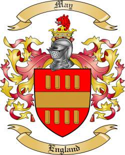 May Family Crest and Coat of Arms